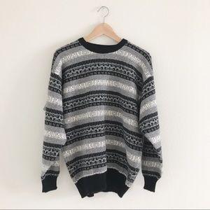 Neiman Marcus Fair Isle Pullover Sweater